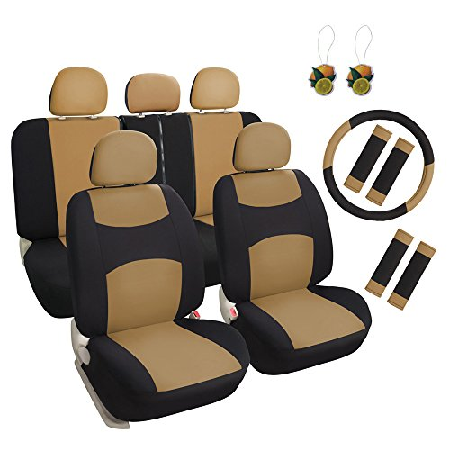 Leader Accessories 10203060 Universal Front Rear Cars Seat Covers, Full Set, Airbag Compatible/Machine Washable, 11 Piece