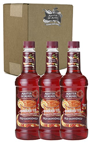 Master of Mixes Old Fashioned Drink Mix, Ready To Use, 1 Liter Bottle (33.8 Fl Oz), Pack of 3