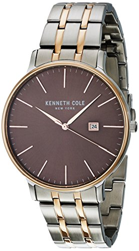 Kenneth Cole New York Men's 'Classic' Quartz Stainless Steel Dress Watch, Color:Two Tone (Model: KC15095001) Tt Gold Dial