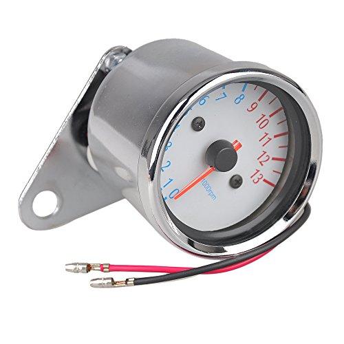 Motorrad Silber Metall Drehzahlmesser Geschwindigkeitsmesser Tachometer Maßstab Blau Hintergrundbeleuchtung