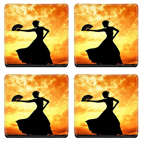Flamenco Dancer Costume Ideas (Luxlady Natural Rubber Square Coasters IMAGE ID 21164069 Woman dancing flamenco)