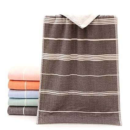 mmynl absorbente toallas de algodón de 33 * 72 cm gris