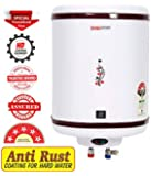 DIGISMART 25 LTR Storage 2 Kva 5 Star Geyser with Special Anti Rust Coating Metal Body, HD ISI Element Hotline/Crystal (Ivory)