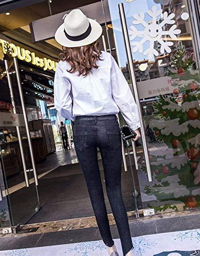 Pantalon Femmes Déchiré Charmant Pour Skinny Jeans Élégant Coupe Minceur D'été Schwarz Eté Slim Casual Dame wNvmO8n0