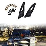 Omotor 1999-2006 Chevy Silverado/GMC Sierra Steel Metal Upper Roof Windshield Mounting Brackets for 50-inch Curved Led Work Light Bar SUV Offroad