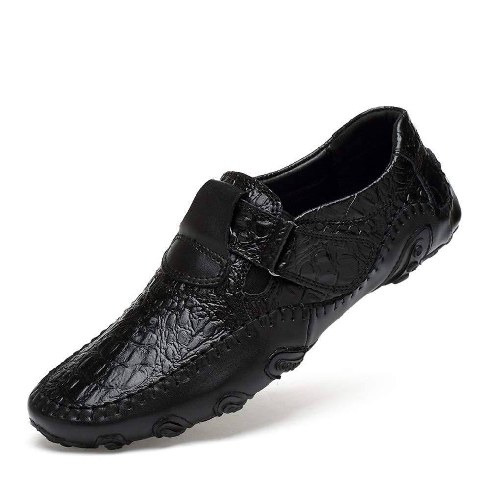 Fuxitoggo Buckle Crocodile Pattern Schuhe für Männer aus echtem Leder Loafers weiche Sohle große Größe Loafers Leder (Farbe : Schwarz, Größe : EU 47) Schwarz f986ae