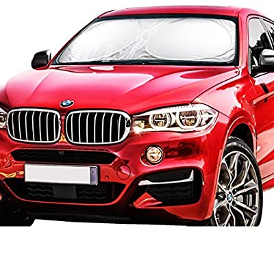 X-Shade Jumbo Sun Shade for Car windshield Comes with Cool Non-slip Pad