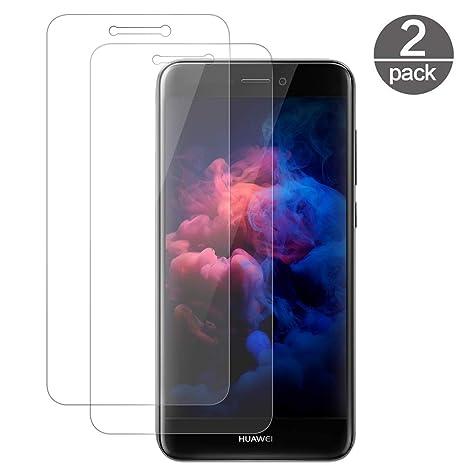Huawei P8 Lite 2017 Protector Pantalla, Vkaiy Huawei P8 Lite 2017 Cristal Templado para Pantalla, 9H Dureza, Anti Dactilares, Alta Definición, 2.5d ...