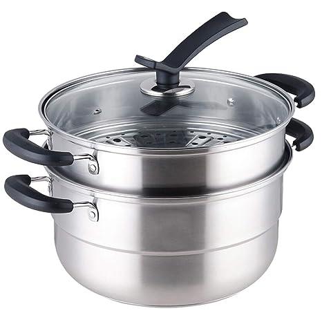 GY Vaporera Acero Inoxidable Cocina de inducción de Gas de ...