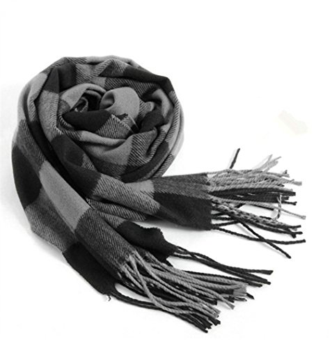Mens Scarves Hot Sale Scarf Classic Arrival Winter Plaid Scarf Tassel Edge Soft Warm Scarf