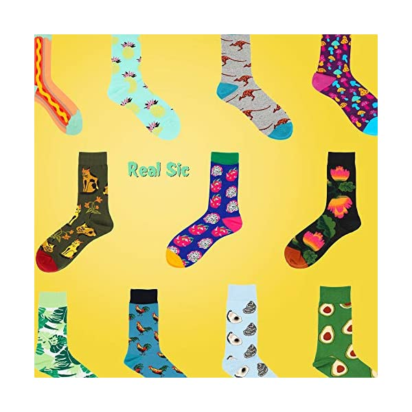 Real Sic Casual Designer Socks For Men And Women - Exotic Animal Series - Breathable And Lightwear Cotton -