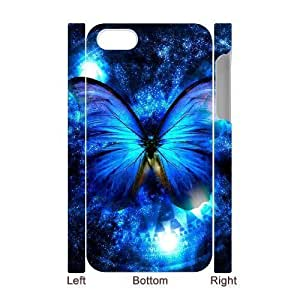 3D Bumper Plastic Case Of Butterfly customized case For Iphone 4/4s