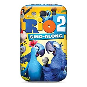 Shock Absorbent Hard Phone Cover For Samsung Galaxy S3 (WJd7470xSAR) Unique Design HD Rio 2 Series