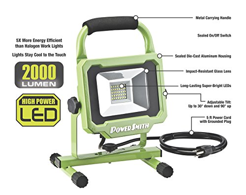 PowerSmith-PWL1120BS-20W-2000-Lumen-LED-Work-Light-with-All-Metal-Housing-with-5-Ft-Power-Cord