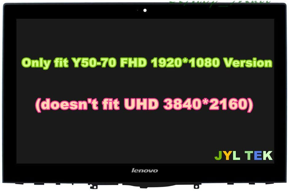 """JYLTK New Replacement 15.6"""" FHD (1920x1080) LCD Screen LED Display + Touch Digitizer + Bezel Frame + PCB Assembly for Lenovo Yoga Y50-70 20349 59428535"""