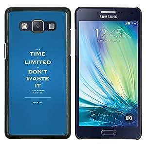 YiPhone /// Prima de resorte delgada de la cubierta del caso de Shell Armor - Por tiempo limitado Residuos inspirador mensaje - Samsung Galaxy A5 A5000