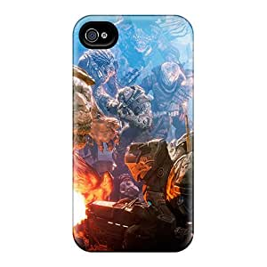 Durable Defender Case For iphone 6/4s Tpu Cover(gears Of War 3 Battle)