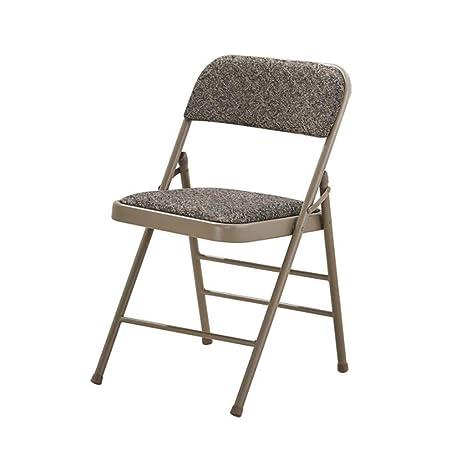QARYYQ Silla Plegable Mesas y sillas Estructura de Metal de ...