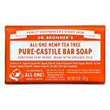 Dr. Bronner's Magic Soap Tea Tree Bar Soap, 140-Gram