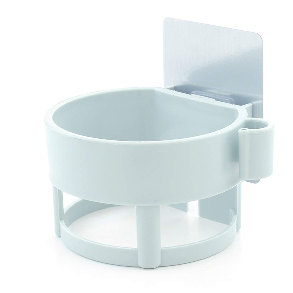 Hermoso soporte de pared para secador de pelo ABS sin taladros para el hogar ba/ño hotel color azul