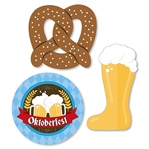 Big Dot of Happiness Oktoberfest - DIY Shaped German Beer Festival Cut-Outs - 24 Count