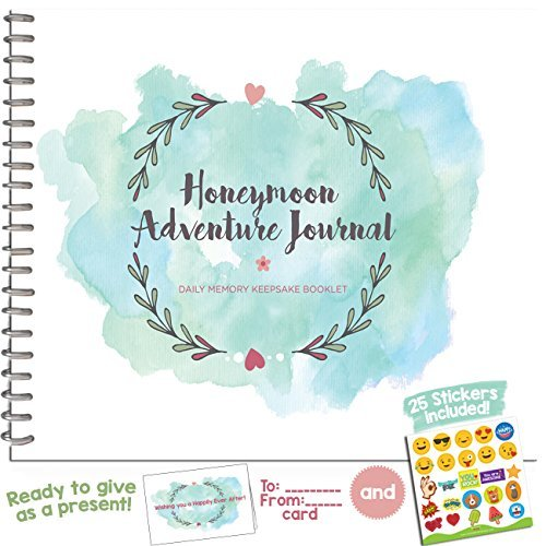 (Honeymoon Adventure Journal for Couples - The Perfect Photo Album Gift for Newlyweds That Includes Emoji Stickers and a Matching Card - The Unique Memory Book You Need for The Best Trip of Your Life.)