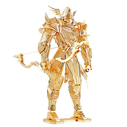 Metal Works 3D Laser Cut Firmament Knight Models Buliding Kits Metal Puzzle Figures with Bow Arrow Toys Gold (Metal Works 3d Laser Cut Models compare prices)