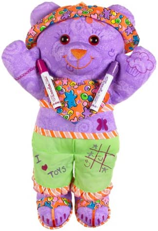 Brittany Stuffed Animal, Amazon Com Play Along Doodle Bear Large W Washable Marker Assorted Toys Games