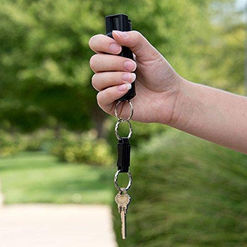 Sabre Key Case Pepper Spray with Quick Release Key Ring, Black, 25 Bursts 10-Foot (3 Metre) Range
