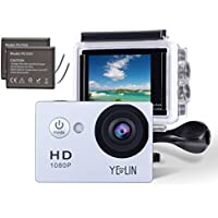 YELIN 1080P Full HD 2.0 inch LCD Screen Waterproof Sports...