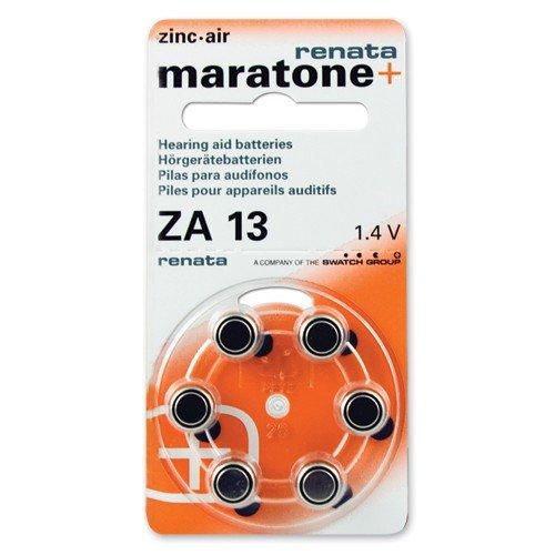 (60 Renata Maratone Hearing Aid Batteries Size: 13)