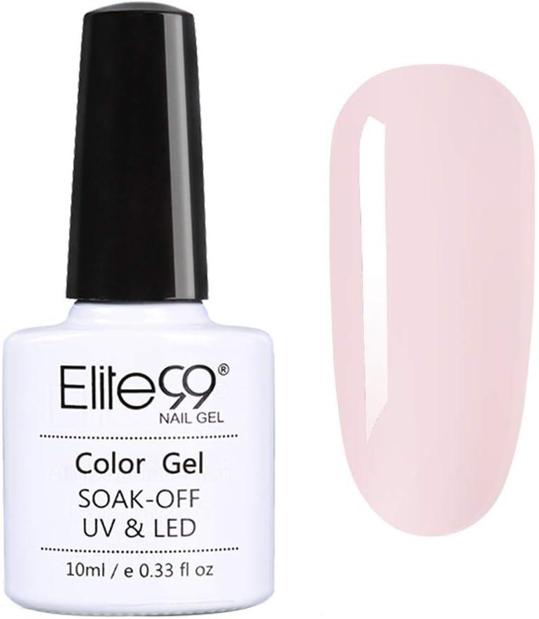 Elite99 Esmaltes Semipermanentes de Uñas en Gel UV LED, Nueva Selección para Manicura Francesa, Esmaltes de Uñas 10ML 5804