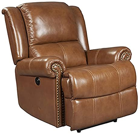 Mega Motion Saddle Brown Leather Recliner with Power Recline (curbside delivery)  sc 1 st  Amazon.com & Amazon.com: Mega Motion Saddle Brown Leather Recliner with Power ... islam-shia.org