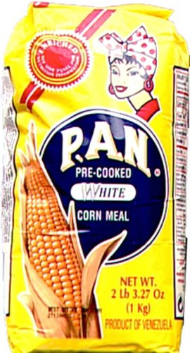 Price comparison product image Harina P.a.n. White Corn Meal 1 kg(35 oz / 2 lb 3.3 oz) (3-pack)