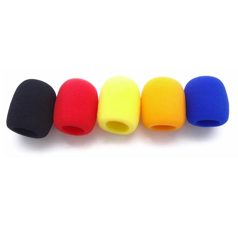 10 Pack Blue/Red/Yellow/Black/Orange Handheld Stage Microphone Windscreen Foam Cover