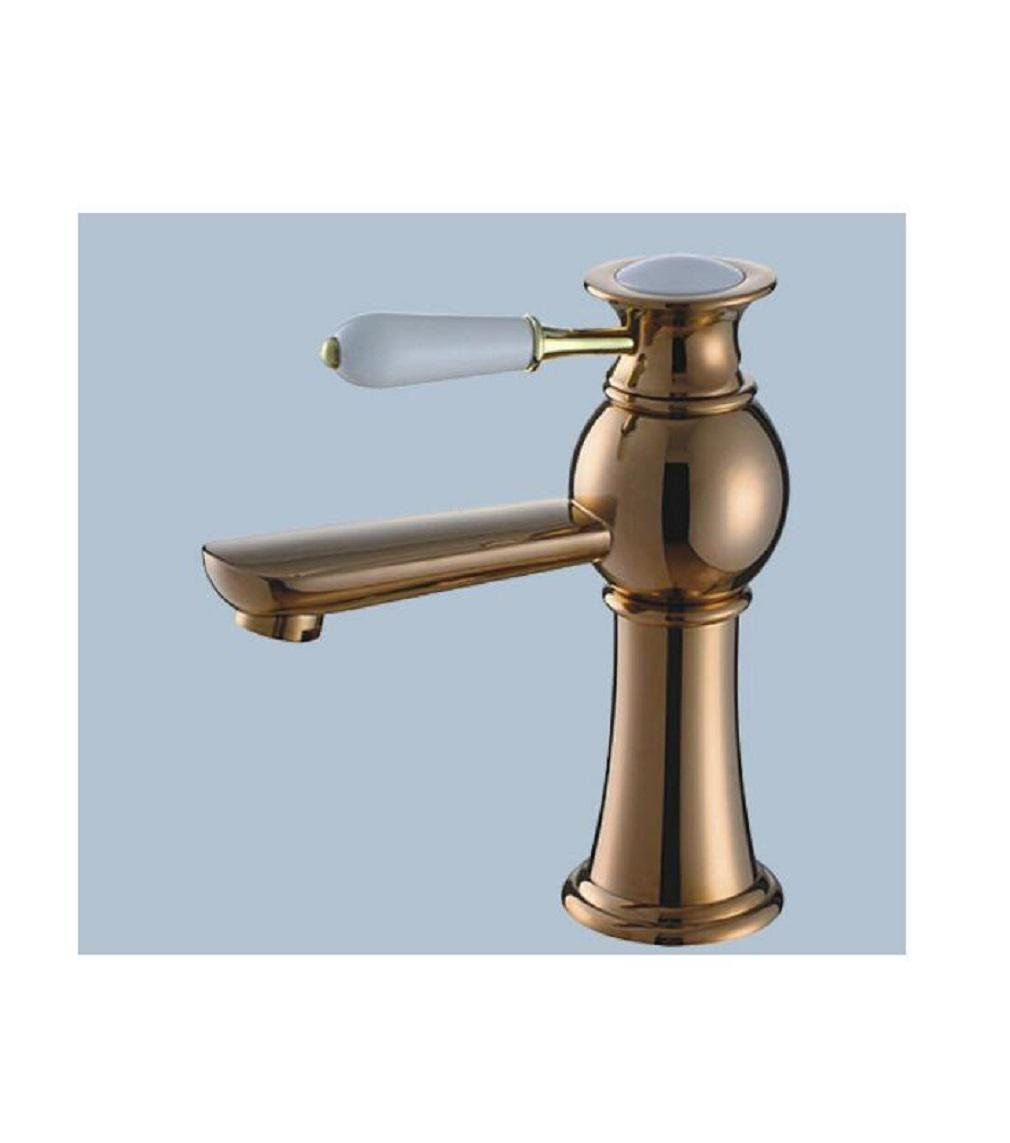 D AMZH Basin Taps Full Full Full Copper Retro Bathroom Single Hole Hot And Cold Water Faucet Basin Sink Faucet , b 597ca2
