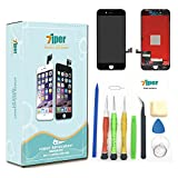 7iper Screen Replacement for iPhone 8 4.7 inch - LCD Display Touch Screen Digitizer Frame Replacement Full Assembly with 3D Touch, Tempered Glass, Repair Tools Kit and Instructions (Black)