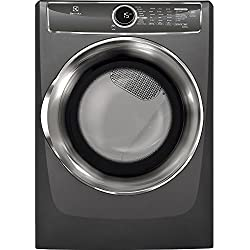 "Electrolux EFME617STT 27"" Energy Star Front Load Electric Dryer with 8 cu. ft. Capacity Perfect Steam Allergen Cycle 15 Minute Fast Dry and Reversible Door:"