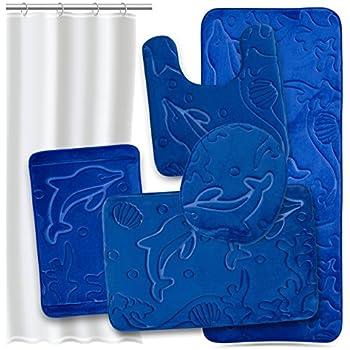 Amazon Com Bathroom Rug Mat Set 4 Piece Memory Foam