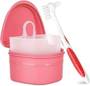 Y-Kelin juego de limpieza de dentadura caja de dentadura + cepillo ...