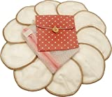 Premium Reusable Bamboo Nursing Pads by Llama Mama   Washable & Reusable Breastfeeding Pads   10 Pads (5 Pairs) Plus Free Laundry and Carry Bag   Makes a Perfect Gift for Baby Showers and New Moms