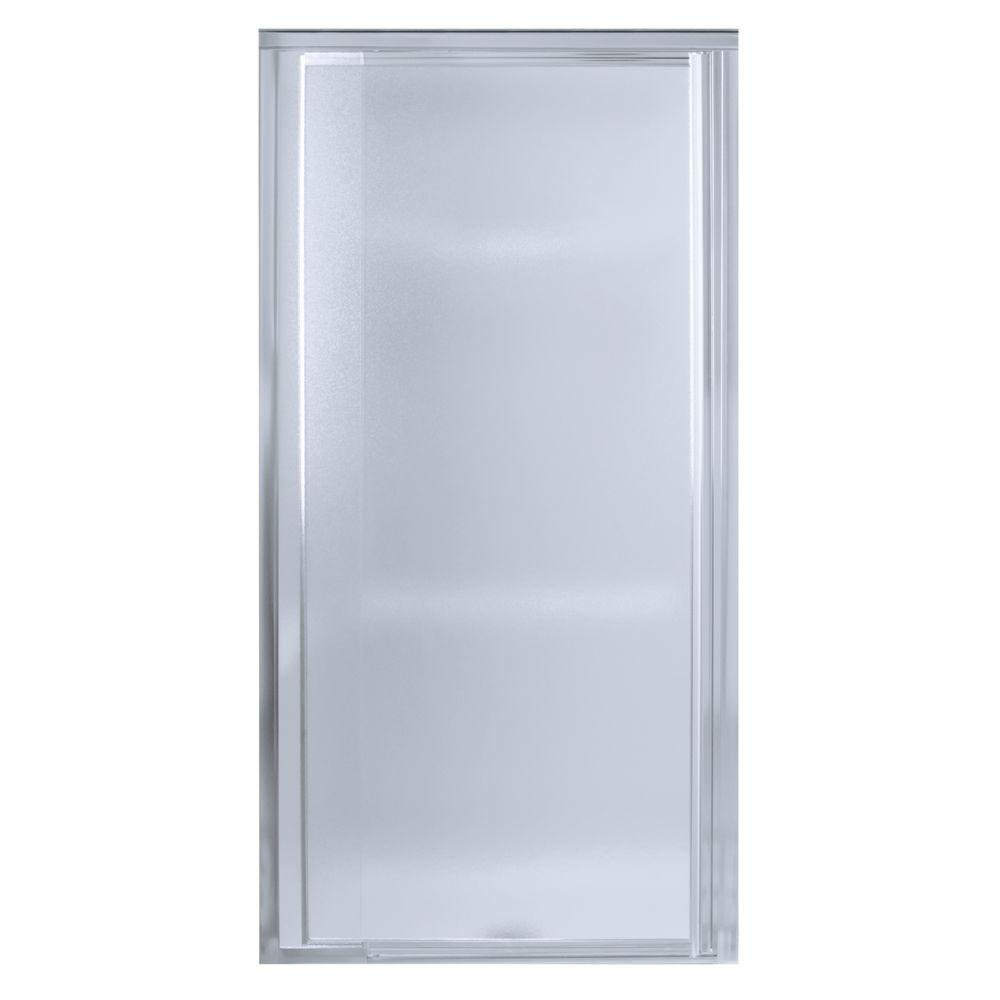 STERLING 1500D-48S Vista Pivot II Shower Door, Silver with Pebbled ...