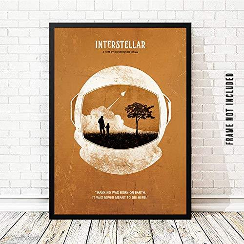 Amazon Com Interstellar Christopher Nolan Minimalist Movie Poster Artwork Print Unframed Print Office Decor Home Decor Wall Hanging Cafe Decor Handmade