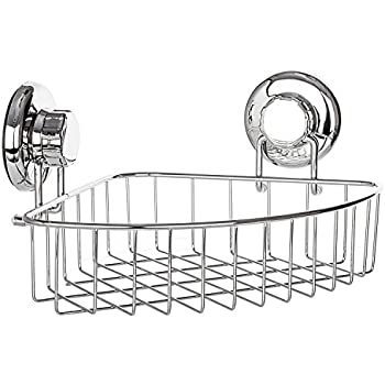 Bino smartsuction rust proof stainless steel - Bathroom corner caddy stainless steel ...
