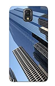 Case For Galaxy Note 3 Tpu Phone Case Cover(new York Skyscraper ) For Thanksgiving Day's Gift