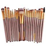 OVERMAL 20 pcs/set Makeup Brush Set Tools-Make-up Toiletry Kit Wool Make Up Brush Set (Gold)