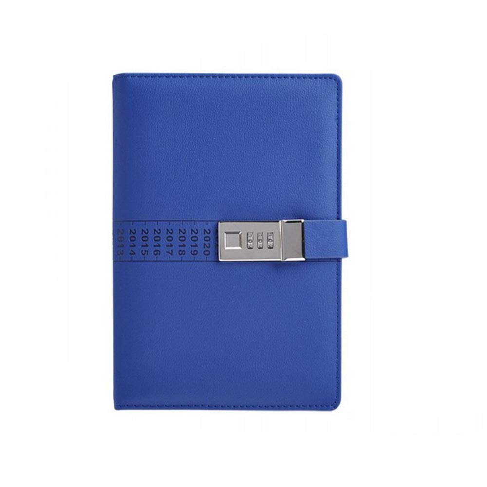 Sinngukaba Premium Business Password Notebook Diary, A5 Hardback Casebound Notebook,Pen Holder, (Color : Blue)