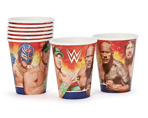 American Greetings WWE 9 oz. Paper Cups (8 Count) by American Greetings