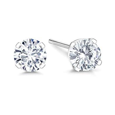 5cd8b67d1 IGI Certified 14K White Gold Lab-Grown Created Diamond Stud Earrings (0.40  Cttw,