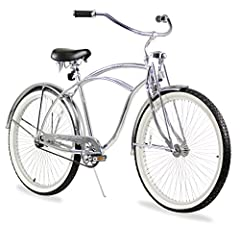 Offering a basic cruiser frame with all the amenities of a tricked-out low rider cruiser, the 26-inch, single-speed Urban Man LRD cruiser bike features 68 spoke count rims, a springer fork front end, and front and rear fenders. The look is co...